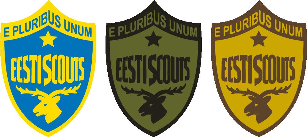 Scoutspataljoni embleem ja selle variandid metsa- ja kõrbemaastikule