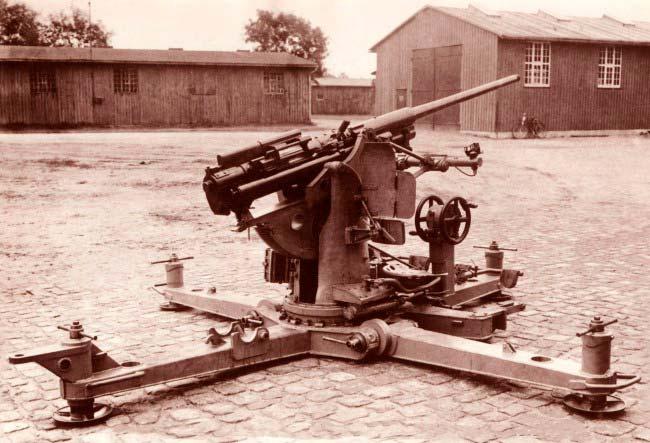 37mm Rheinmetall-Borsigi automaat-õhutõrjekahur II maailmasõja eel.