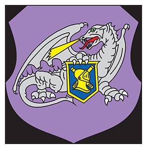 Toetuse väejuhatuse logistikapataljoni embleem