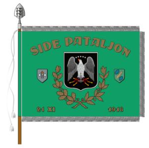 Staabi- ja sidepataljoni lipu kujutis