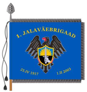 1. jalaväebrigaadi lipu kujutis